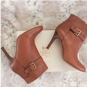 "Coach ""Mason"" Ankle Leather Booties"